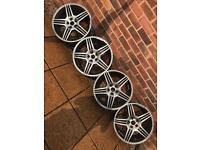 "5x112 19"" Staggered Mercedes Replica alloy wheels Vw Audi Seat Skoda"