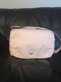 Armani pink baby changing bag