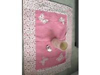 Laura Ashley butterfly matching single bed covers, curtains and rug