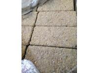 Block paving 80mm sandy colour rough