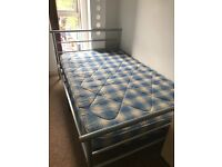 Like new double bed and mattress for sale.