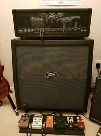 Peavey Valveking VK100 head and 4x12 cab excellent condition all new valves