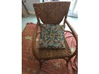 4 x wicker chairs
