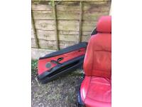 BMW Z4 e85 red leather seats