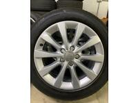 "Genuine 17"" Audi A6 10 Spoke alloy wheels and tyres (4 Michelin Tyres)"
