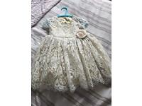 Monsoon Flower Girl Dress 6-12m