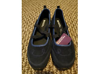 NEW - Navy Blue Suede shoes/sandals from Mountain Warehouse, Memory Foam, Size 5