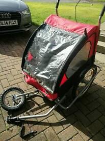 Double bike buggy / trailer