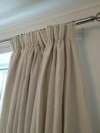 Laura Ashley cream curtains