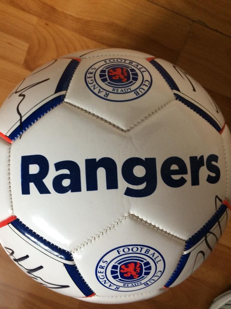 BRAND NEW SIGNED RANGERS BALL