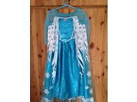 Frozen dress with cape
