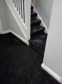 2m x 1.8m luxury dark grey black carpet rem £45