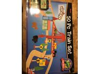 Wooden train set 80+ pieces lots of extra & original boxes