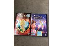 2 x Disney tinker bell DVDs