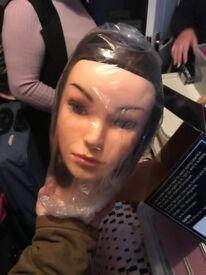 Hairdressing training head