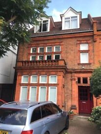 One bedroom, ground floor flat in Chiswick, available end of February.