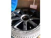"Audi 18"" Alloy Wheels and Tyres x 5 (5x100 and 5x112 fitment) Suit Transporter T4"