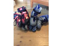 2 sets of Roller Skates - one size 3 to 6 and the other 12J to 2