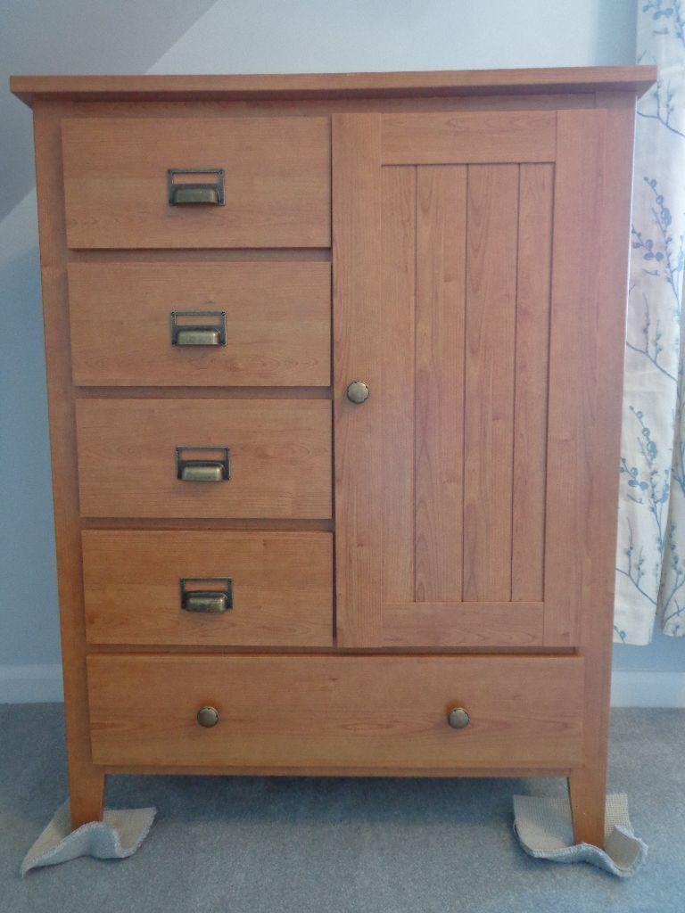 Mfi Bedroom Furniture Mfi Albany Tallboy Wardrobe Drawers Bedroom Storage In