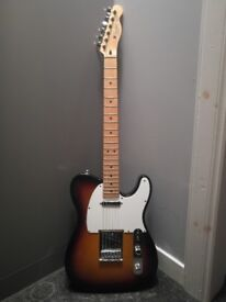 Fender Telecaster Mexican Sunburst and Accessories