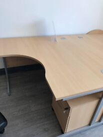 NEW beech corner desk - left or right -also comes in straight office desk-different sizes available