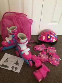 Girl's Pink Roller Skates