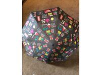 British Icons Umbrella - Grey/Colourful