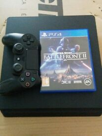 Slim PS4 1tb with star wars 2