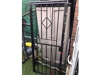 Iron security Gate with Frame and 2 Keys