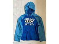 Timberland Boys Hooded Windbreaker Hoodie Raincoat Jacket Size 10 138 Cm Blue