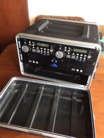 DJ Equipment - Rack-Mount Flight Case and SoundLab G064GG CD Player