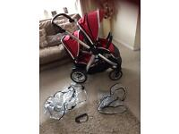 Oyster max double Pram buggy stroller pushchair ect