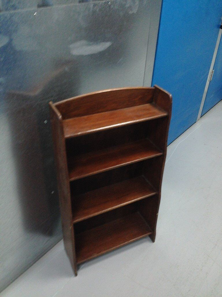LOVELY OLD DARK WOOD BOOKCASE