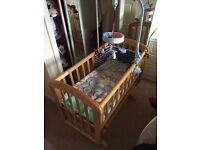 Baby cot or baby nappy changing table