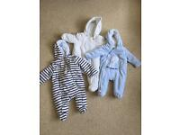 Baby winter suit, all in one or overall 0-3
