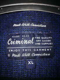 Criminal Men's long sleeved shirt.