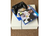 PS4 white with 4 games