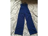 Asos ladies jumpsuit overalls Royal Blue colour Size 8 used only one time £8