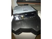 Alpine CD head unit blue tooth, handsfree with sub and amp