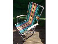 Retro garden deck chair ideal for camping