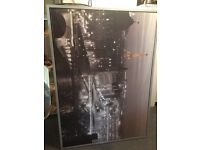 Black and white framed picture of Paris