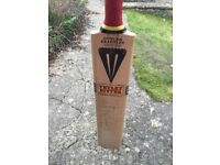 Signed England players cricket bat 1990s