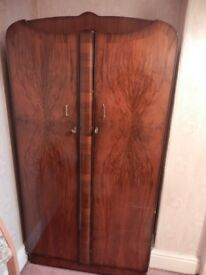 Gentlemans 1940's wardrobe. solid wood, classic vintage item
