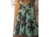 Topshop UK Size 10 Mint Dress