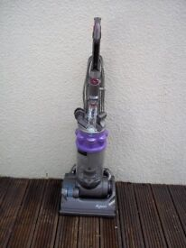 DYSON DC14 PURPLE UPRIGHT BAGLESS VACUUM, FULLY CLEANED, WITH TOOLS AND NEW MOTOR