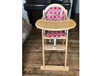 Wooden Child High Chair in Great Condition