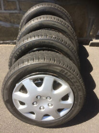 Winter Tyres - 4 Bridgestone 195-55R15- 5-6mm tread