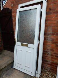White uPVC Front Door for sale
