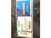 Wireless Friday & Saturday ticket