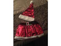 Girls Santa tutu skirt & hat